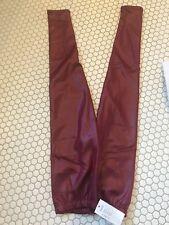 red faux leather pants Leggings Fleece Fur Lined
