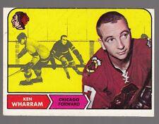 [61969] 1968-69 TOPPS HOCKEY KEN WHARRAM TRADING CARD #22 CHICAGO BLACKHAWKS