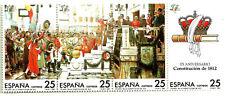 SERIE COMPLETA EN TIRA DE SELLOS. 175 ANIV. CONSTITUCIÓN 1812. EDIFIL 2887-2890