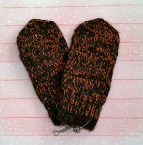 MITTENS HANDKNITTED Russian 100% seep wool natural very soft, warm thick