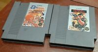 Nintendo NES Rush N Attack & Double Dribble carts cleaned & tested, authentic