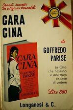 CARA CINA di Goffredo Parise - 1968 Longanesi pocket
