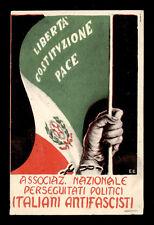 tessera   ASSOC.NAZ. PERSEGUITATI POLITICI ITALIANI ANTIFASCISTI 1952