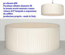 Paralume cilindro d50 lampadario sospensione nastrato a mano made in italy