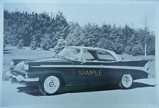 "12 X 18""  Black & White Picture 1958 Packard 2 Door Hardtop With Rear Antena"