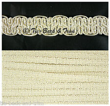 5 Metres of 8519 Silky Braid Gimp 15mm Trimmings Upholstery Craft Edging Trim 405 Ivory