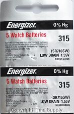 10 pcs 315 Energizer Watch Batteries SR716SW SR716 0% HG