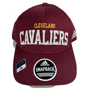 Cleveland Cavaliers NBA Basketball Adidas Snapback Hat Womens One Size Burgundy