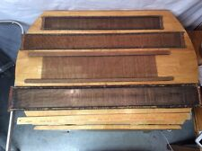 Lot Of 4 Different Styles Antique REED HARNESSES Primitive Weaving LOOM