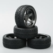 RC Rubber Tyre Tires&Wheel Rim 4X KF/D5M+PP0150 For HPI HSP 1:10 On-Road Car New