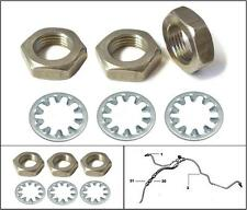 LAND ROVER Series 2, 2a & 3 Brake Hose HALF LOCKING NUTS & SHOCKPROOF WASHERS x3