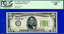 """Mega Rare 1928-D $5 FRN PCGS Ext-Fine 45 """""""" Atlanta """"""""  FR-1954-F # F27952651A"""
