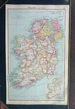 Map Ireland Political 1928 John Bartholomew Antique