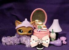 Authentic Littlest Pet Shop LPS #1170 Mocha SWIRL Shorthair Kitty Cat Blue