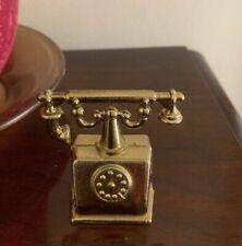Vintage Miniature Brass Telephone