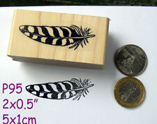 P95 feather rubber stamp