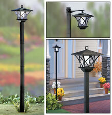 2-in-1 Versatile Solar Powered 5 Foot Tall Lamp Post Outdoor Garden Light