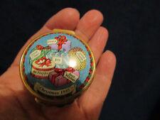 Halcyon enamel Christmas box 1995,25th anniversary