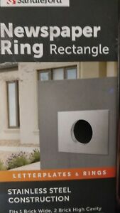 Newspaper Ring Sandleford 237 x 167mm Stainless Steel Rectangular Aussie Style