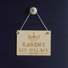 Personalised Gin Palace sign. Gin & tonic wooden sign add your name L235