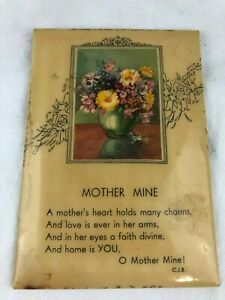 VINTAGE - FRAME WITH SAYING - MOTHER MINE - MEASURES 14.5 X 10 CM