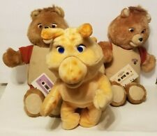 Lot Vintage 2 Teddy Ruxpin Talking Bear and Grubby Thats Right All 3 Nice w/tape