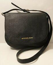 Michael Kors AS-IS Bedford Black Saffiano Leather Crossbody Shoulder Bag Purse