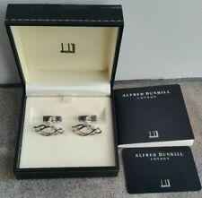 Genuine 925 Hallmarked Sterling Silver Dunhill Cufflinks Twist Knot Design