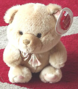 NEW Keel Soft Cuddly Bear with a Bow Tie 18cm Rare
