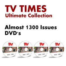 TV TIMES 1955-1990 - Ultimate DVD Collection - Almost 1300 Issues - CD Disc PDF