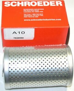 """Up to 32 New A10 Schroeder 10 micron, 3"""" Dia x 4.9"""" Long Hydraulic Filters"""