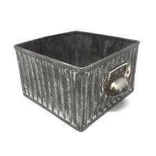 Small Galvanized Drawer Box, 4-3/4-Inch