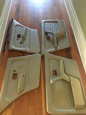 BMW E30 sedan beige door cards with handles OEM 325i 325e 325 318i