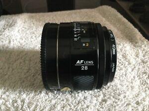 MINOLTA AF LENS 28mm 1:2.8 (22 ) CAMERA LENS