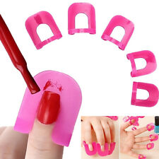 26pcs Curve Shape Spill Proof Finger Cover Nail Polish Stencil Guide Strip Hot