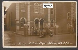 Postcard Salisbury Wiltshire flood at the Primitive Methodist Chapel 1915 RP