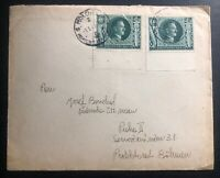 1943 Munich Germany cover To Prague Czechoslovakia Birthday Stamp