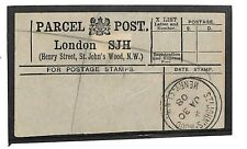 "N247 1908 london. st john's wood. les colis. remarque: ""rare bureau"""