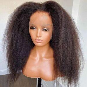 8A 180 Density Unprocessed Brazillian Kinky Straight 360 Lace Human Hair Wig
