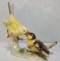 VINTAGE Canary Yellow & Baby HUMMEL GOEBEL BIRDS  W. GERMANY 1967