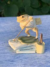 The World of Beatrix Potter MR JEREMY FISHER Frog Lilly Pad Figurine RARE ❤️sj4j