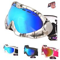 Rayzor Ski Snowboard Goggles Sunglasses Mens Womans UV400 Anti Fog RRP£69