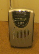 COBY CX-17 Mini AM/FM/TV Pocket Radio EXCELLENT Working Condition w BATTERIES NR