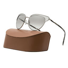 Oliver Peoples Josa Womens Sunglasses Workman Grey Brushed Silver Mirrored Lens