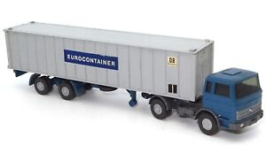 """1:87 WIKING VINTAGE MERCEDES CONTAINER TRUCK """"EUROCONTAINER"""""""