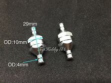 2pcs In-Line Fuel Filter for RC Fuel Line System D10×d4×L29mm TH005-01502