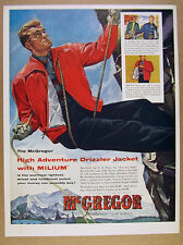 1954 mountain rock climber art McGregor Drizzler Jacket vintage print Ad