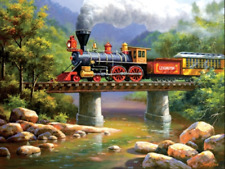 """Counted Cross Stitch Kit """"Steam Train"""" by Andrea's Designs"""