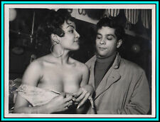 """PASCALINE & PIERRE JOLIVET in """"The Desert of Pigalle"""" - Orig. CANDID Photo 1958"""