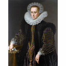 Portrait Woman Maria Schuurman Painting XL Wall Art Canvas Print